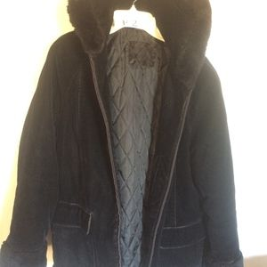 """29"""", black, soft faux suede outer"""